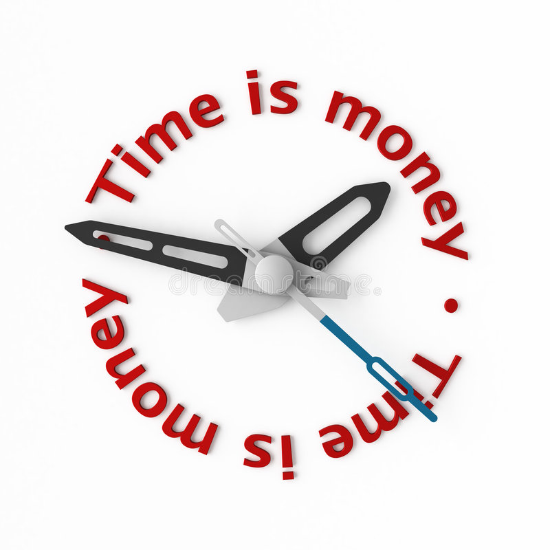 Time is money vector illustration
