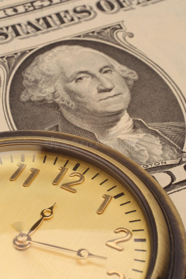 Time is money business and finance concept