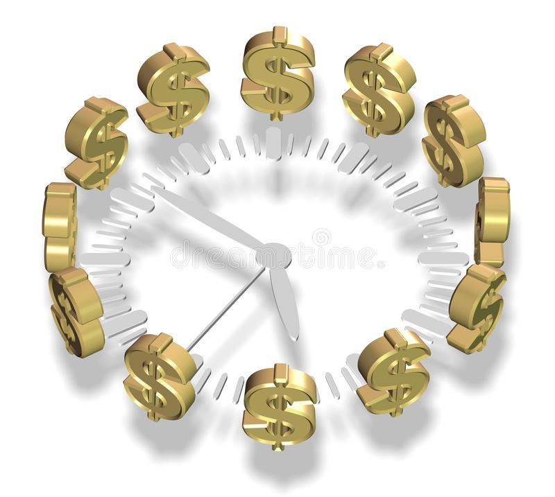 Download Time and money stock illustration. Illustration of hour - 32477130