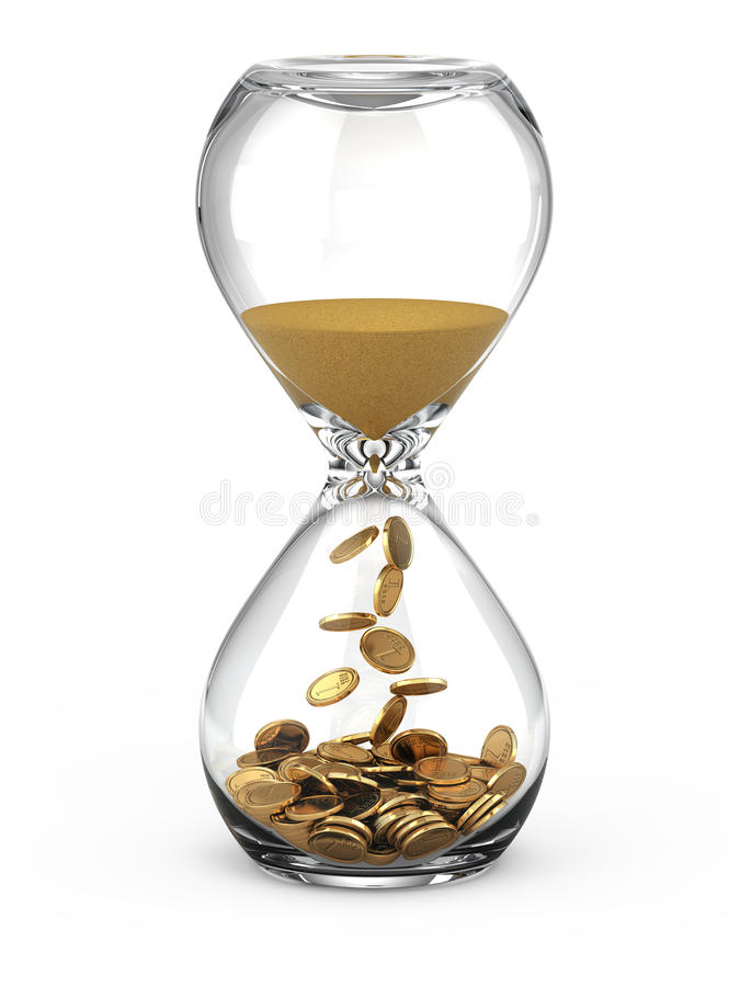 Time is money concept royalty free illustration