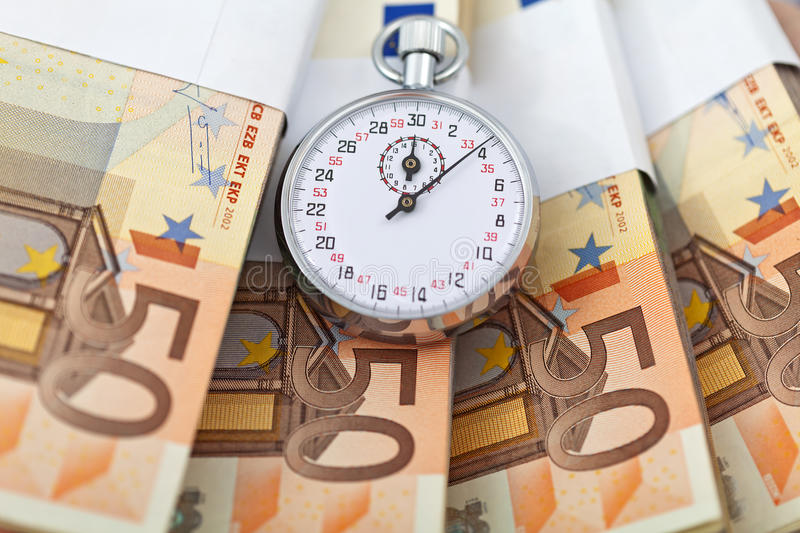 Download Time Is Money Concept With Euros Stock Photo - Image: 20355262