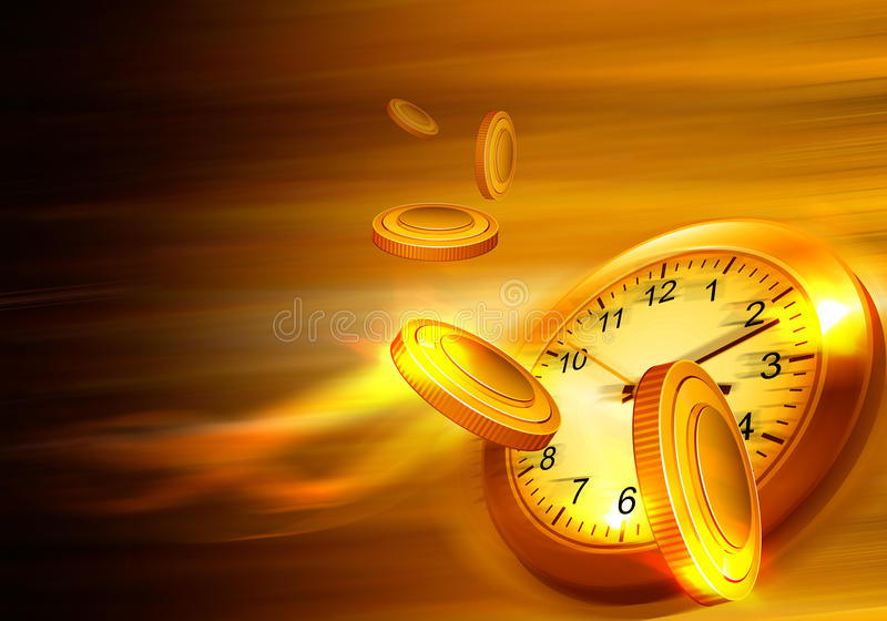 Time is money concept royalty free stock photos