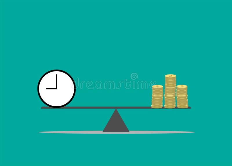 Time is money concept. Money concept royalty free illustration