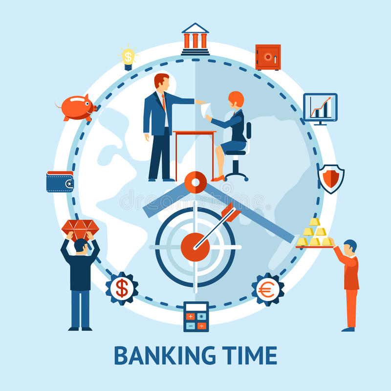 Time and money concept royalty free illustration