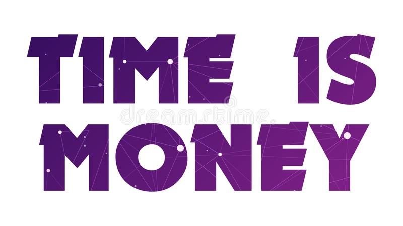 Time is Money Graphic 006 - White Background royalty free illustration