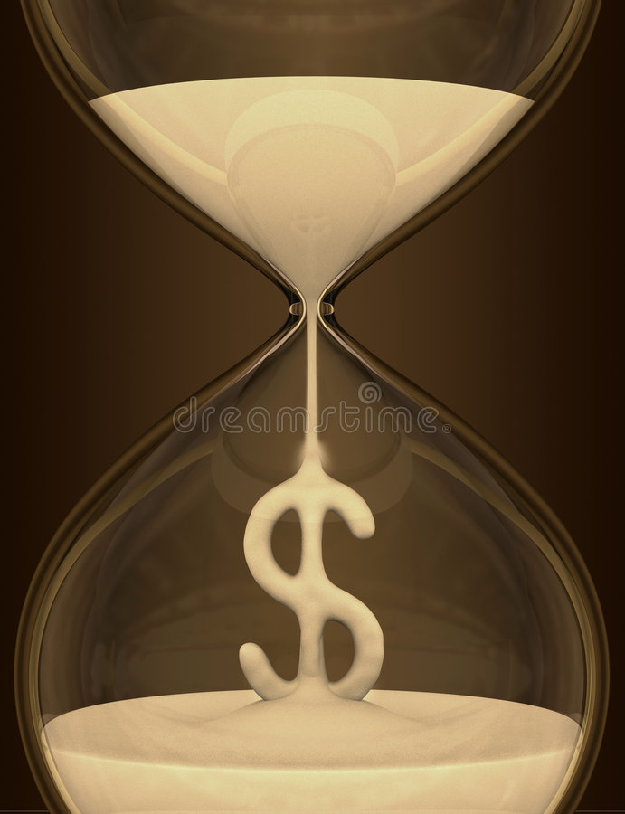 Download Time is Money (hourglass) stock illustration. Illustration of disservice - 3889005