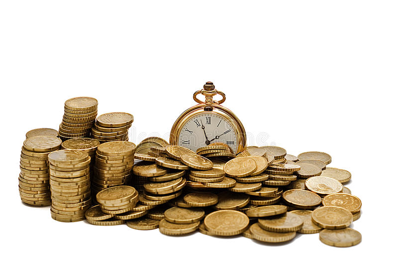 Time is money II. royalty free stock photos