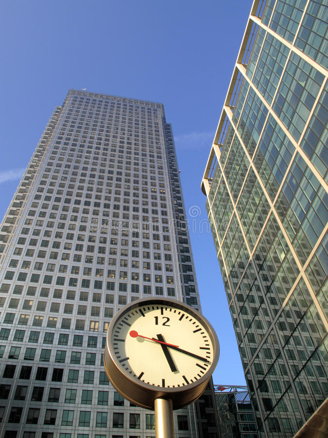 Time Is Money In Londons Docklands Royalty Free Stock Photo