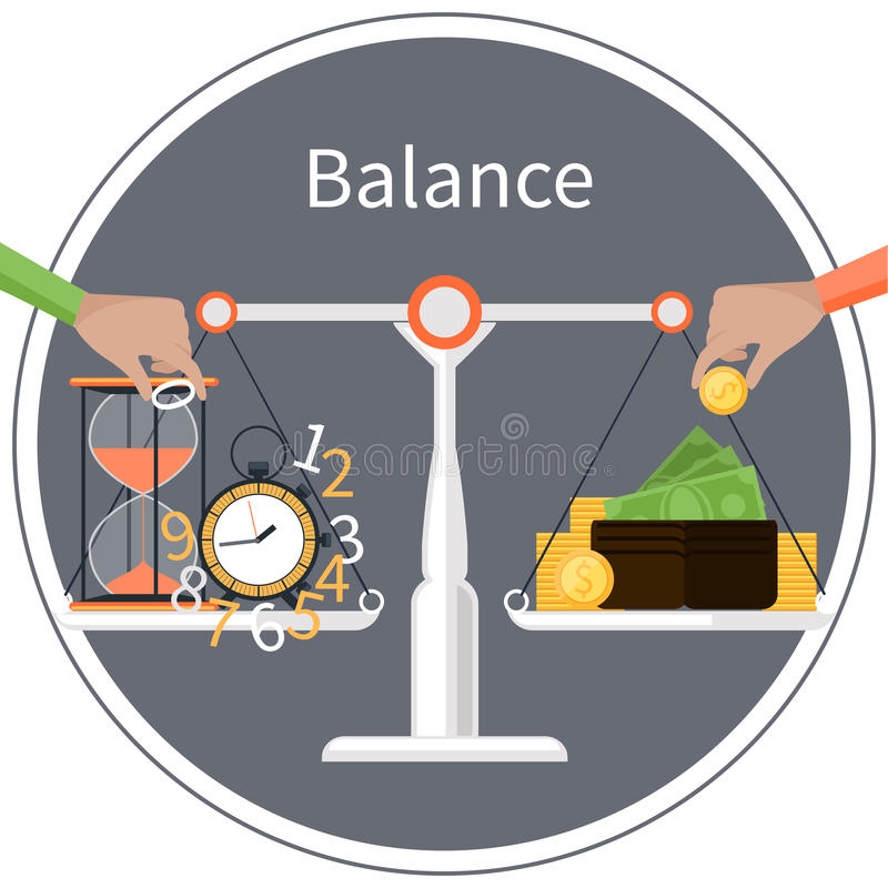 Time is money. Management concept royalty free illustration