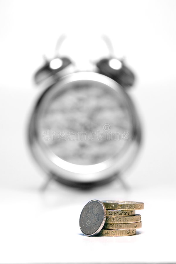 Time is Money - Mono 2 royalty free stock image