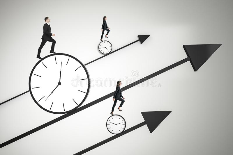 Time is money and race against time concept stock photo
