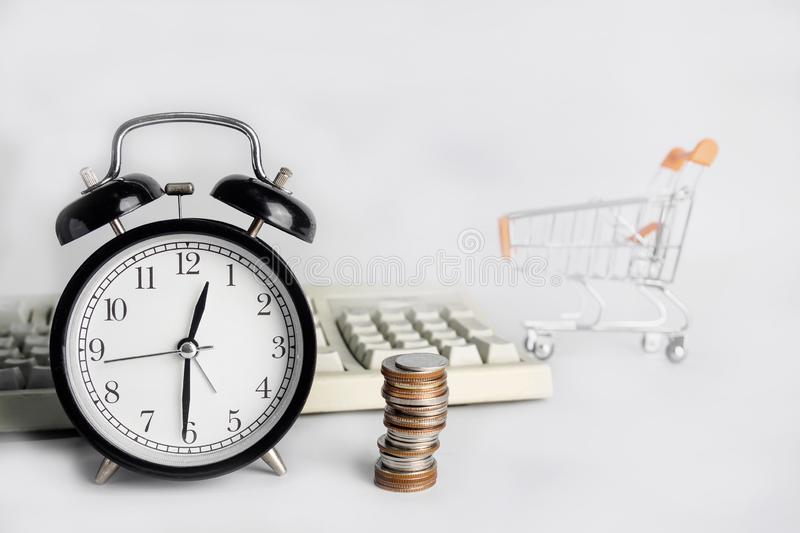 Time is Money, save time save money stock photos