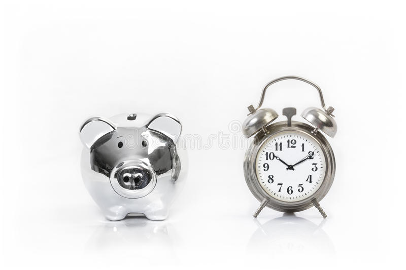 Time Money. Time is money - savings and investments royalty free stock image