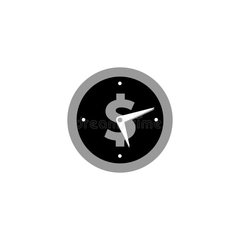 Time is money vector icon symbol illustration. S stock illustration