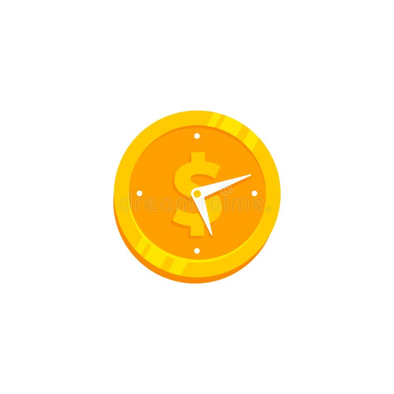 Time is money vector icon symbol illustration. S royalty free illustration