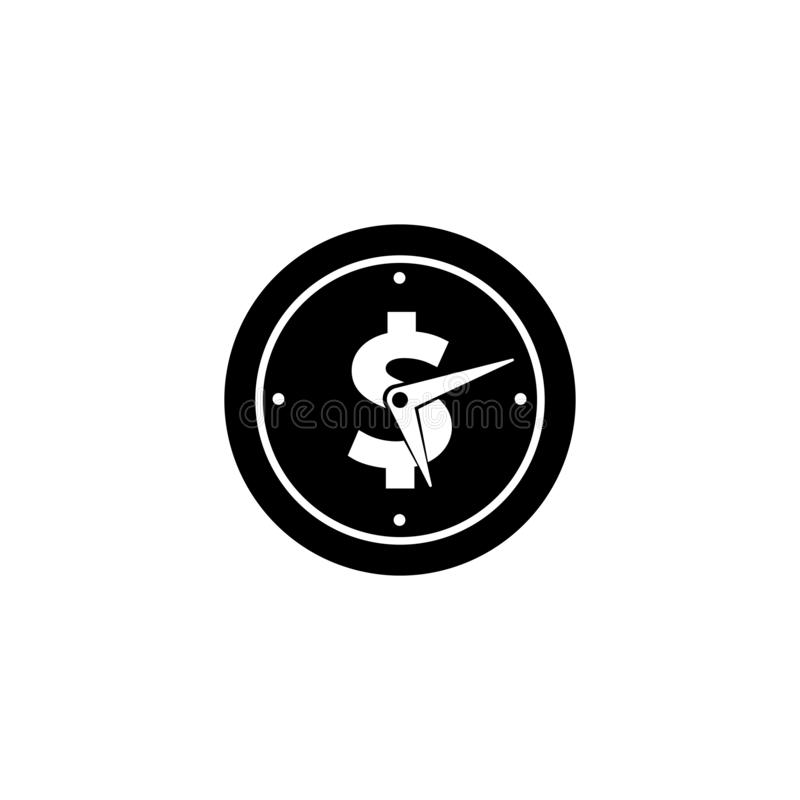 Time is money vector icon symbol illustration. S vector illustration
