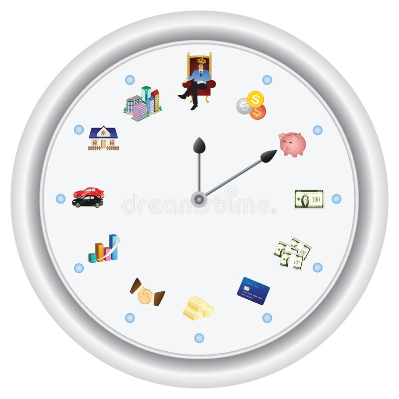 Time Is Money ---vector Only, No Bitmap Royalty Free Stock Images