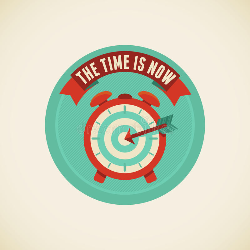 The Time Is Now Royalty Free Stock Images