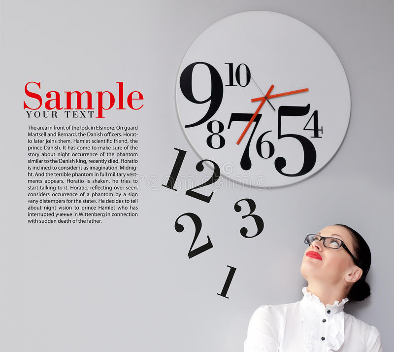 Time in office royalty free stock image