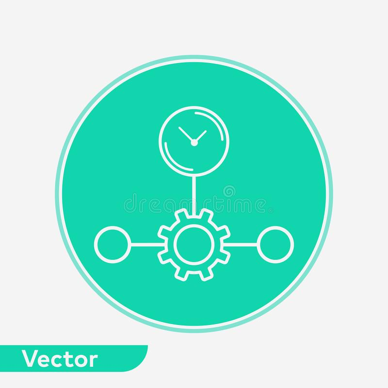 Time planing vector icon sign symbol. Time planing icon vector, filled flat sign, solid pictogram isolated on white. Symbol, logo illustration royalty free illustration