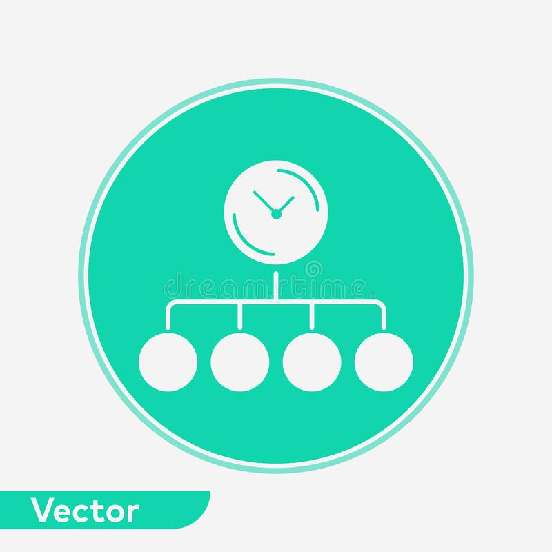 Time planing vector icon sign symbol. Time planing icon vector, filled flat sign, solid pictogram isolated on white. Symbol, logo illustration vector illustration