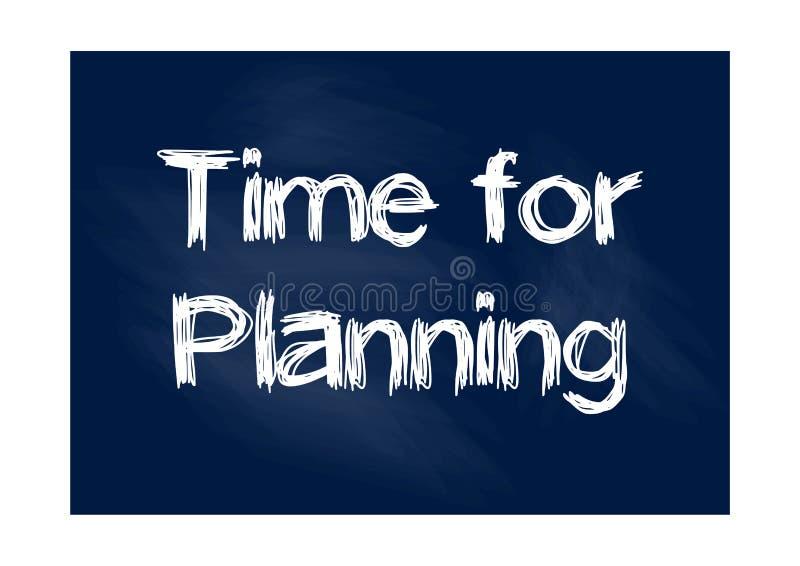 Time for planning blackboard business concept Vector illustration. For design royalty free illustration