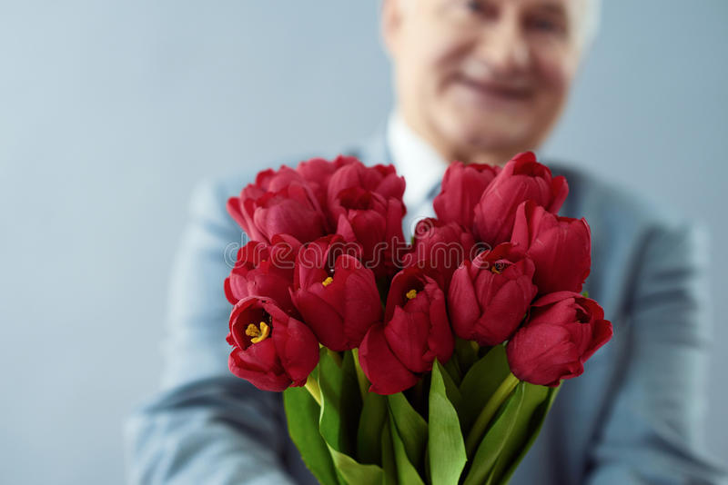Time for pleasant surprises. stock images