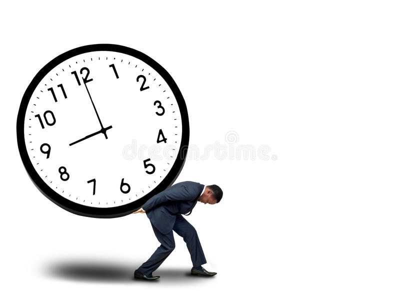 Time pressure concept royalty free stock photography