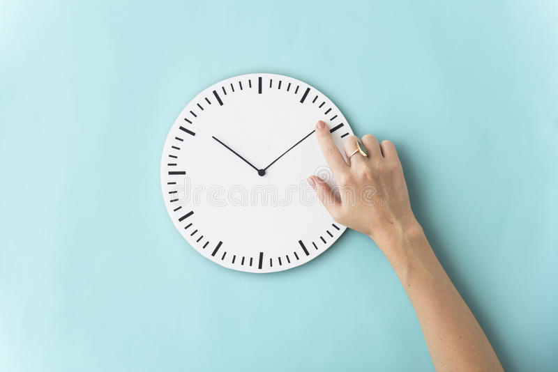 Time Punctual Second Minute Hour Concept stock image