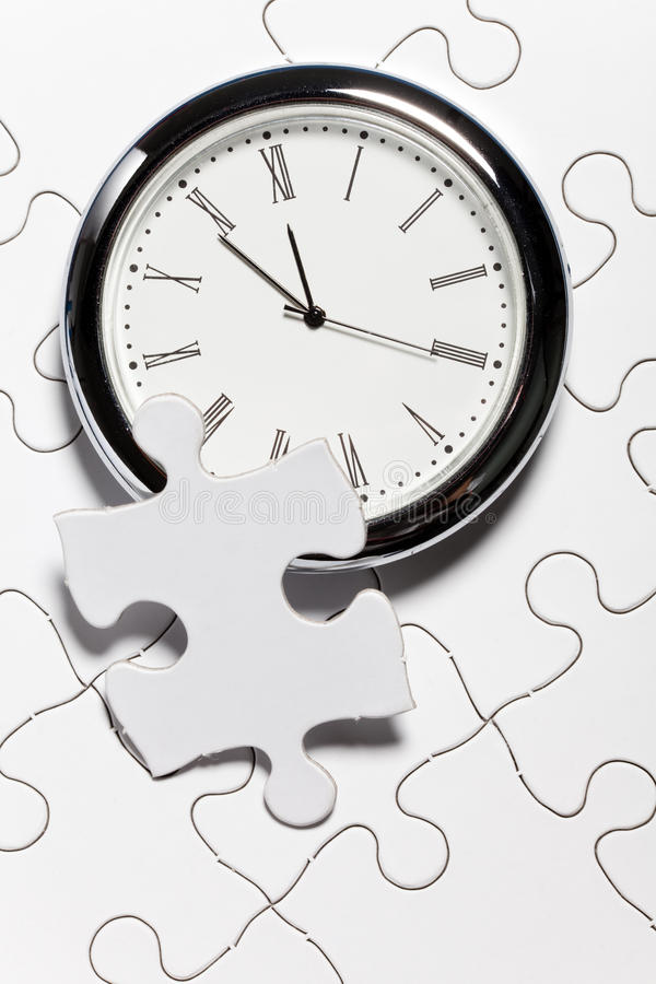 Download Time Puzzle stock photo. Image of time, white, success - 22013498