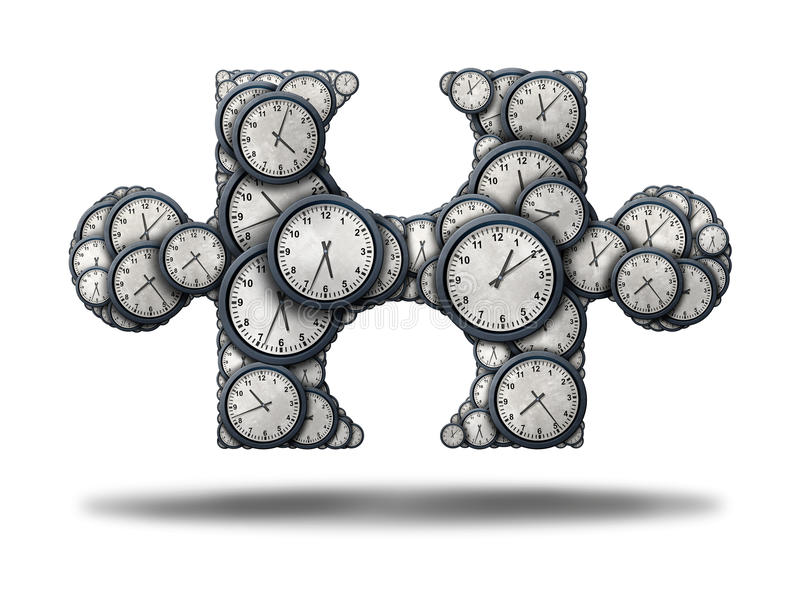 Time Puzzle stock illustration