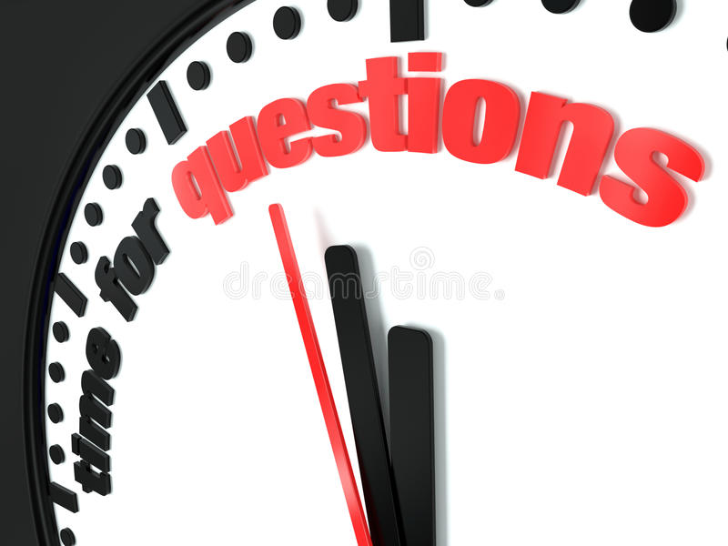 Time for questions stock illustration