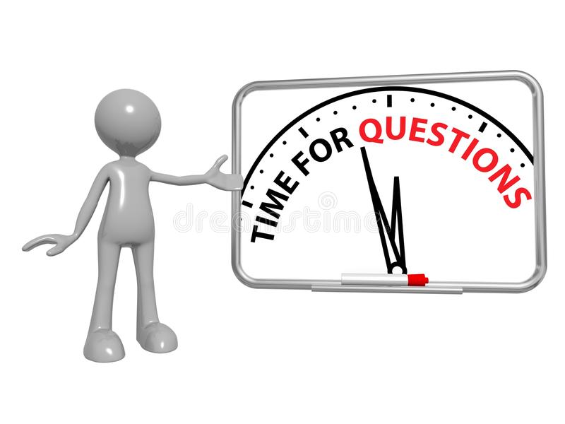 Time for questions vector illustration