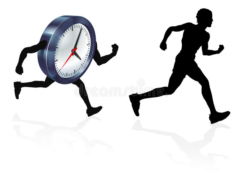 Time Race Against Clock Concept vector illustration