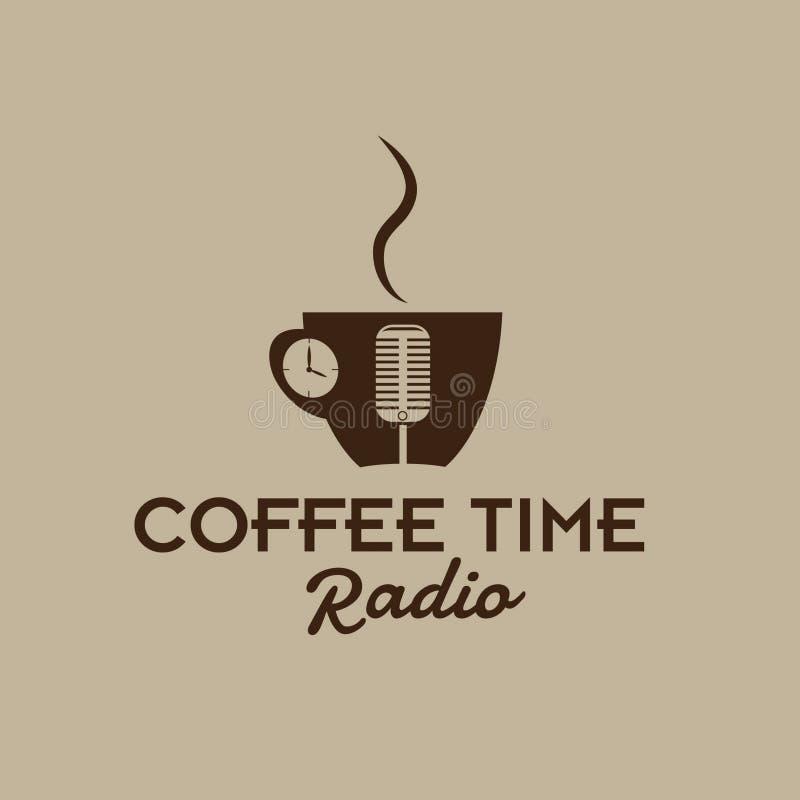 time radio cup stock illustration