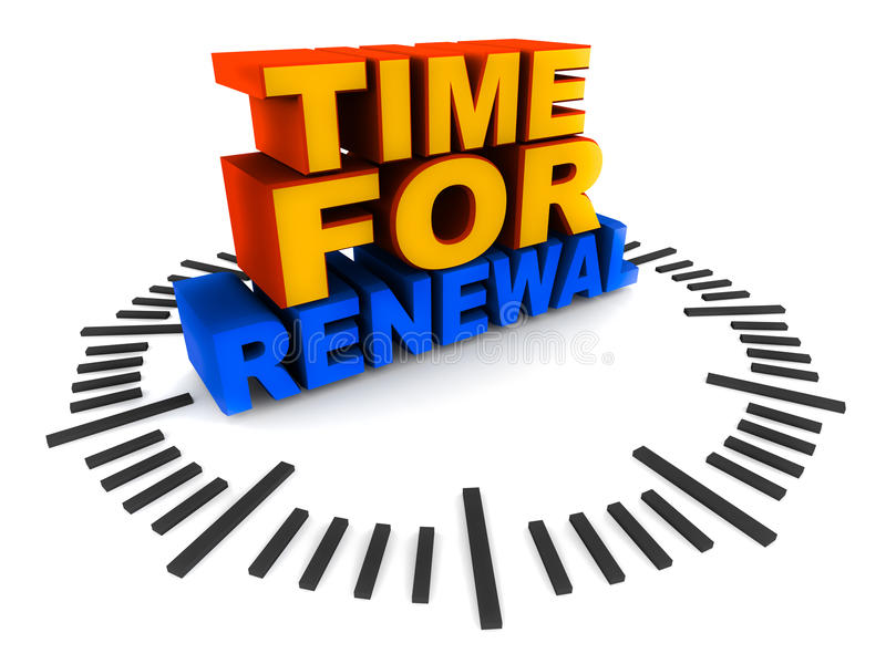 Download Time for renewal stock illustration. Image of contract - 27007982