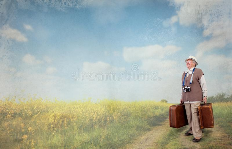Time of retirement is the time to travel stock photo