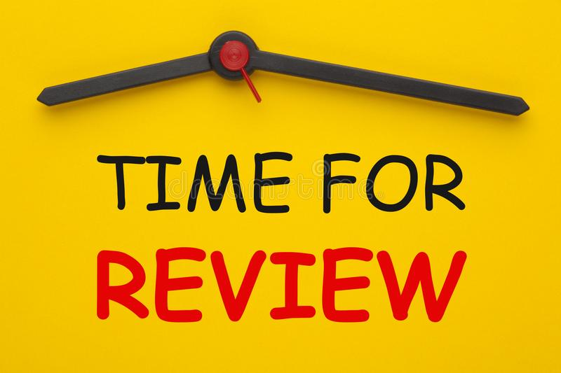 Time For Review Concept royalty free stock photo