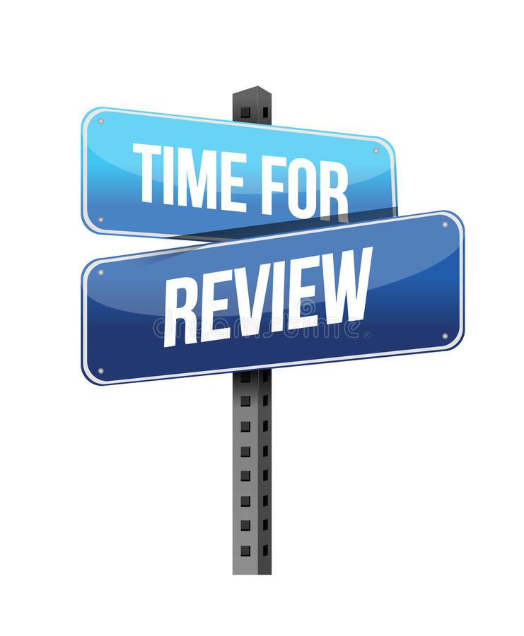 Time for Review road sign royalty free illustration
