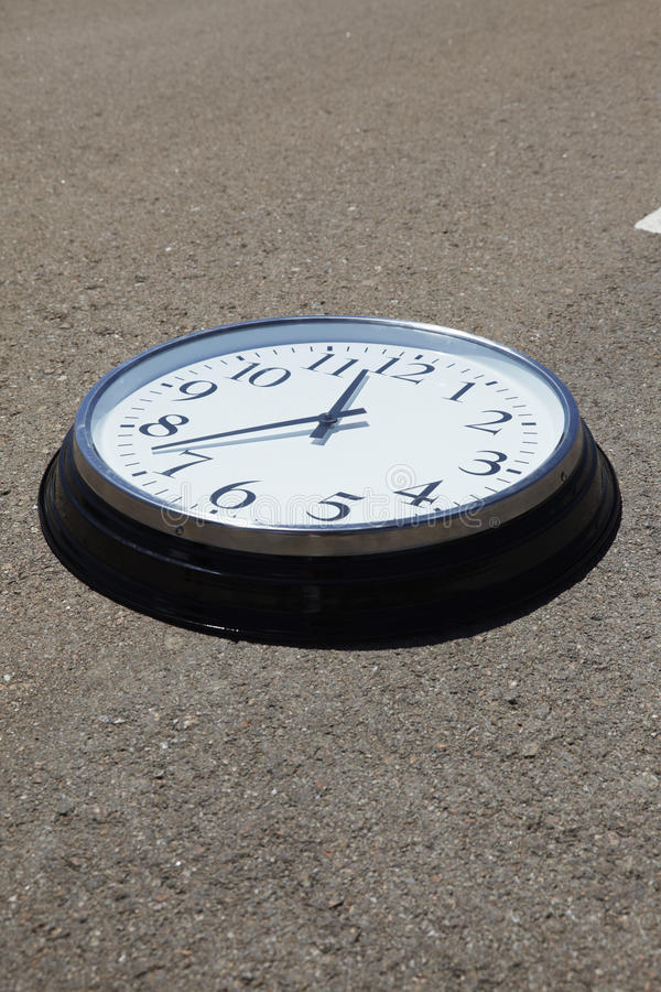 Download Time on the road stock image. Image of clock, spring - 14831969
