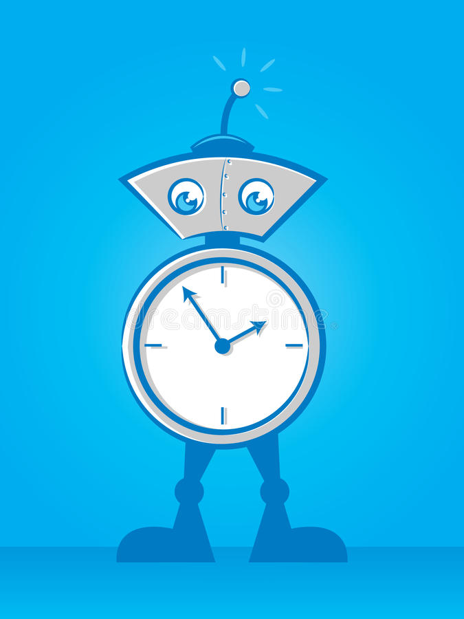 Download On Time Robot stock vector. Image of icon, computer, intelligence - 33037055