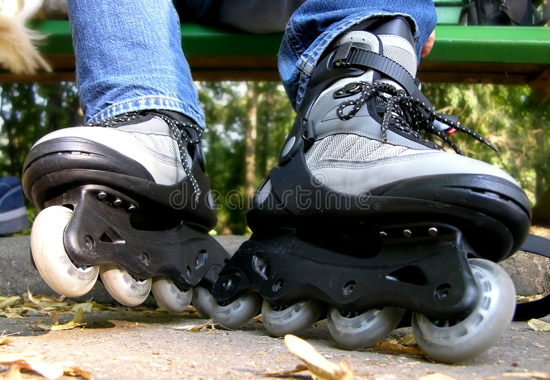 Download Time for Rollerblades stock photo. Image of skate, weekend - 10208