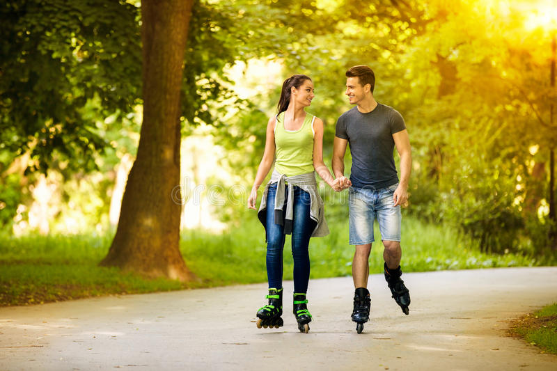 Time for rollerblades stock photo