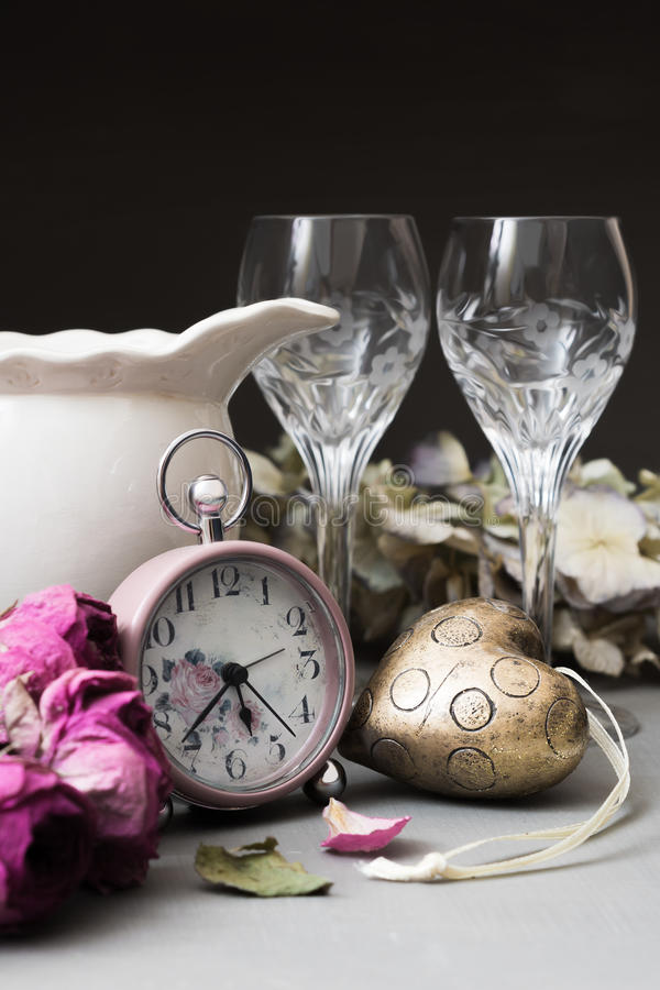 Download Time for Romance stock photo. Image of retro, heart, celebration - 32949112