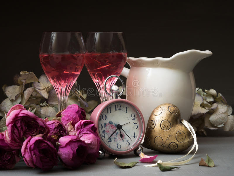 Download Time for Romance stock image. Image of glass, flower - 32951501