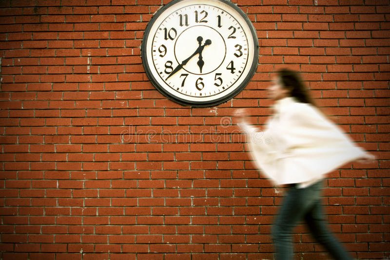 Download Time is running stock image. Image of time, wall, catch - 12238807