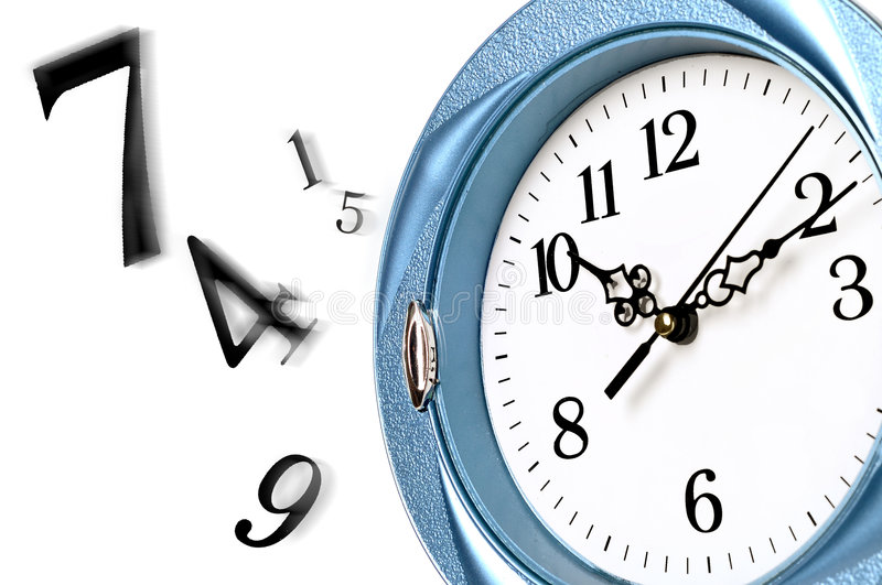 Download Time is running out stock illustration. Illustration of clock - 7280839