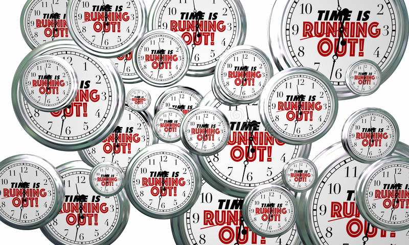 Time is Running Out Clocks Flying By Deadline Reminder 3d Illustration vector illustration