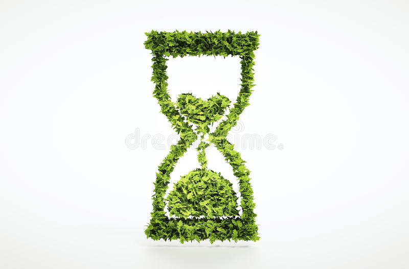 Time is running out concept. With included clipping path royalty free illustration