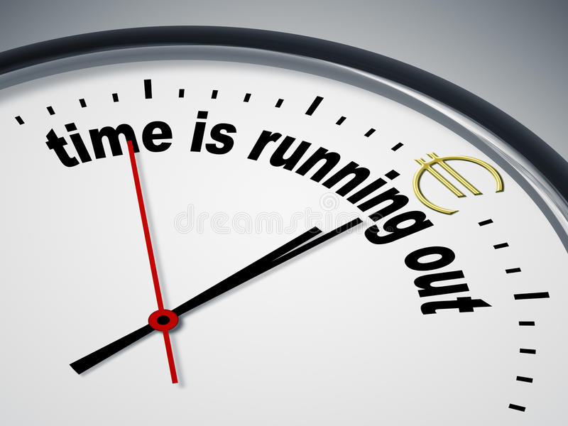 Time is running out for Euro. An image of a nice clock with time is running out for Euro royalty free illustration
